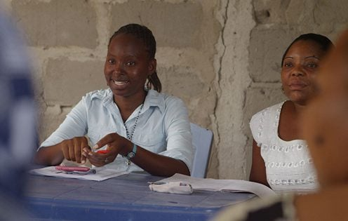 FINCA Tanzania Loan Officer meets with rural clients