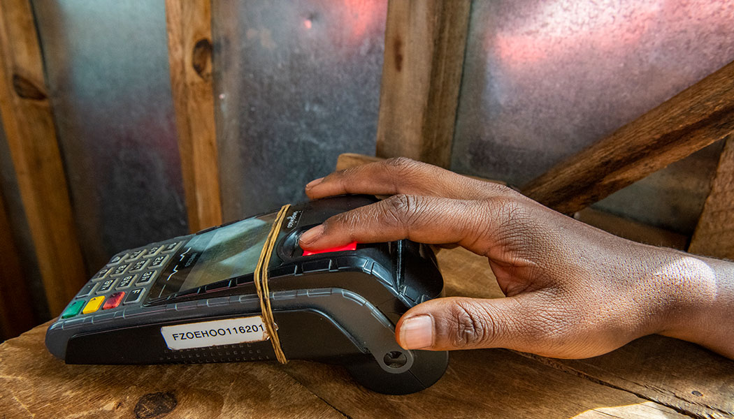 Biometric scanning is just one of the fintech innovations implemented by FINCA to expand financial inclusion.