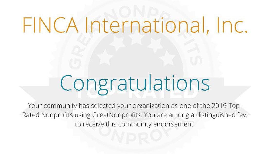 FINCA-GreatNonprofits-Certificate-2019