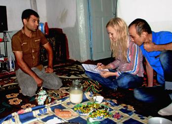 Veronika with FINCA Tajikistan clients