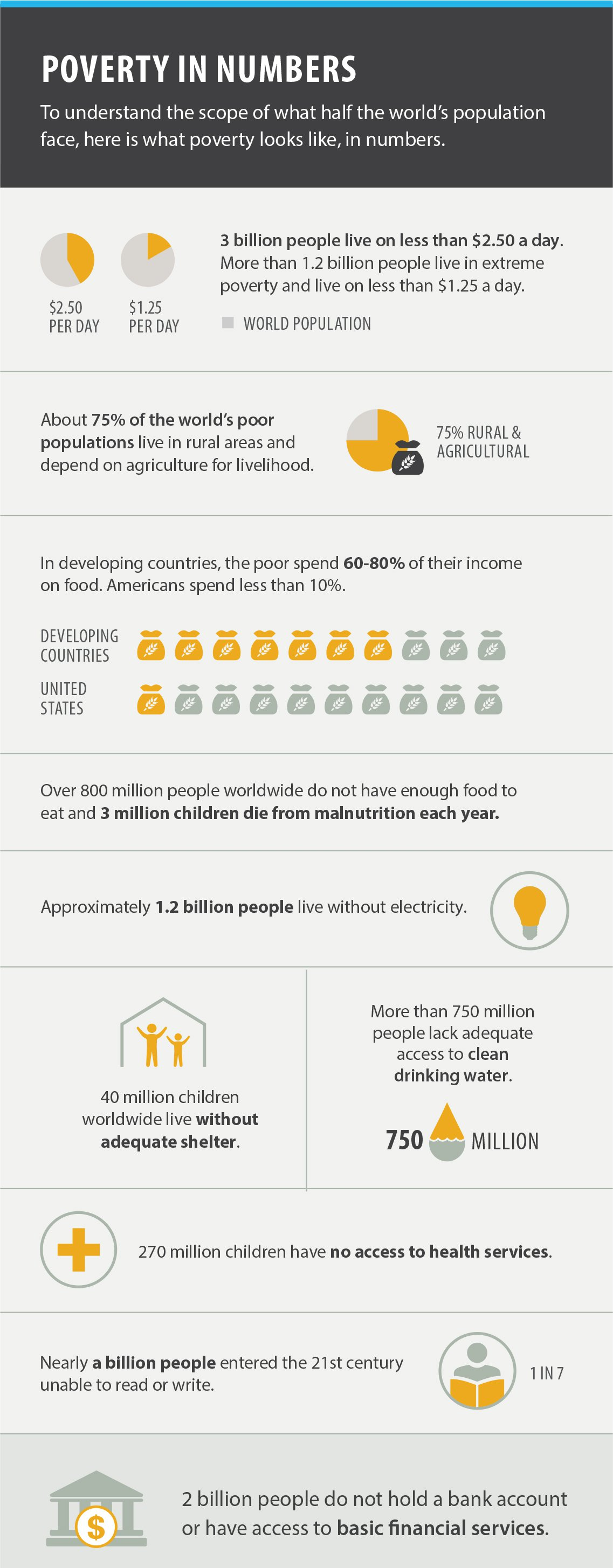Poverty in Numbers infographic