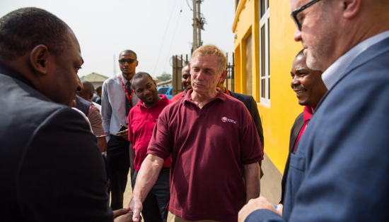 Rupert at FINCA Nigeria Branch opening