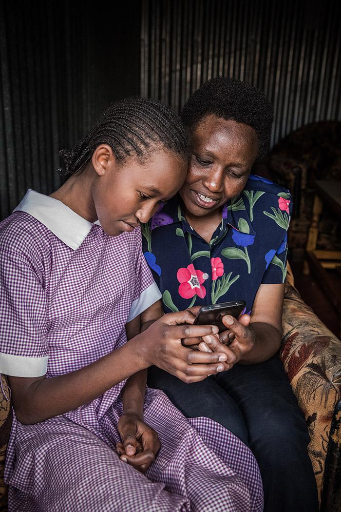 Eneza-Education-User-Imelda-Mumbi-with-Mom