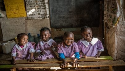 Peris Wanjiku's Students in Classroom