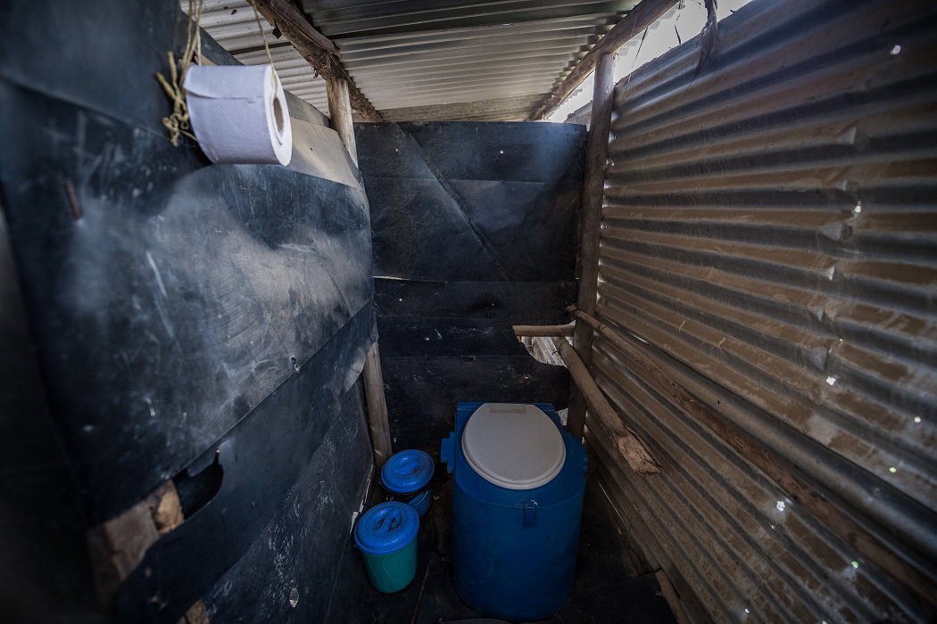 Sanivation's container-based toilet
