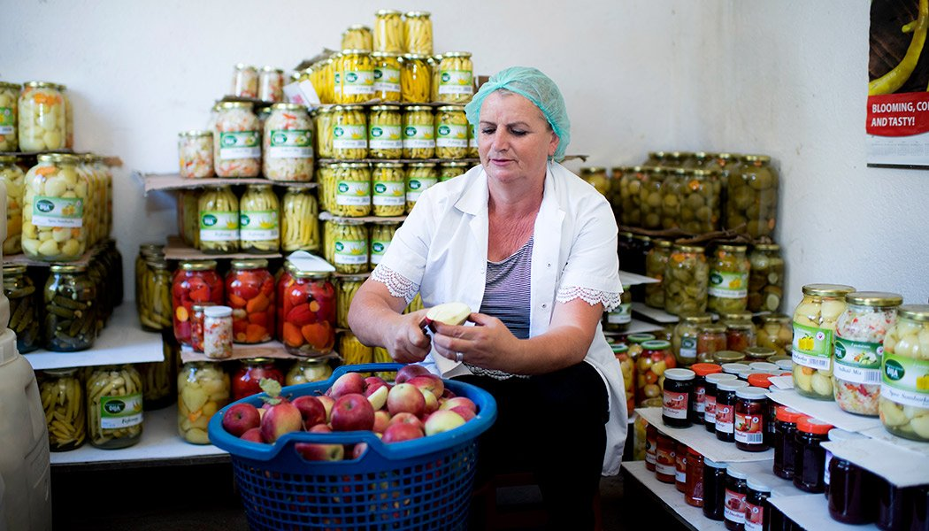 Women's Entrepreneurship in Action: Xheva Haziri Processing Produce