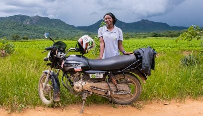 Petronella-with-her-motorbike