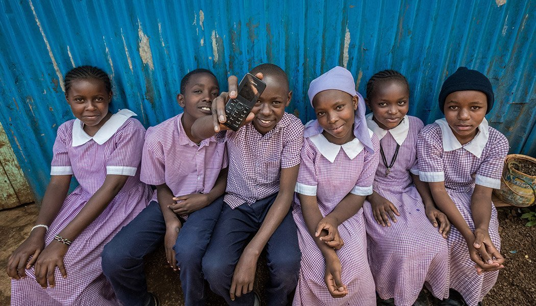 Children-Using-Eneza-Education's-Phone-Based-Program