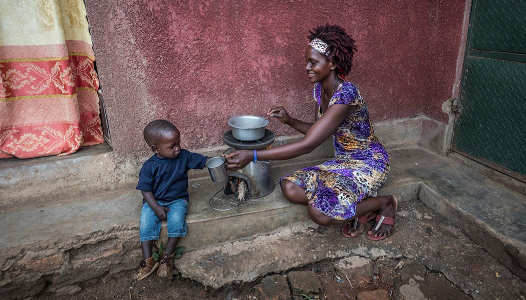 Mother-and-Child-Using-a-BrightLife-Clean-Cookstove