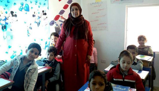 World-Refugee-Day-Photo:-Najla-with-her-Students