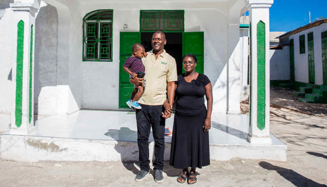 Annesse Aristild and Kerlande Toussaint (shown here with their youngest son) know the value of education