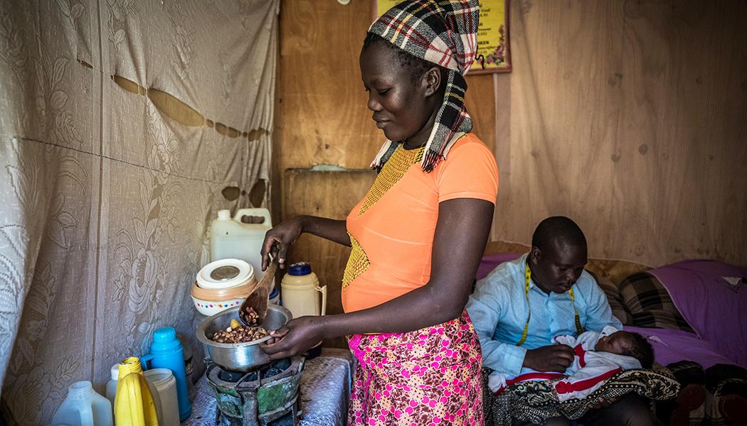 Susan Otunga uses a charcoal briquette substitute from FINCA Ventures partner Sanivation